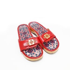 Tory Burch - Red Rosie Mules/Slides